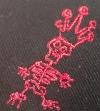 """Cap """"Der Todesking"""" (schwarz mit rotem Logo)"""