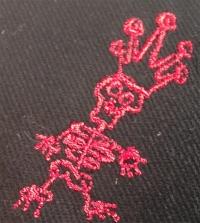 """Cap """"Der Todesking"""" black with red logo"""